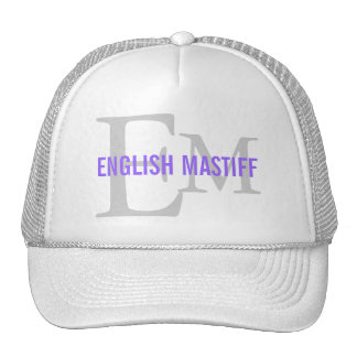 English Mastiff Breed Monogram Design Trucker Hat
