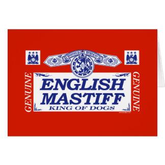English Mastiff Card