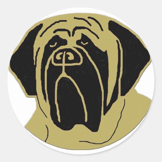 English Mastiff Classic Round Sticker
