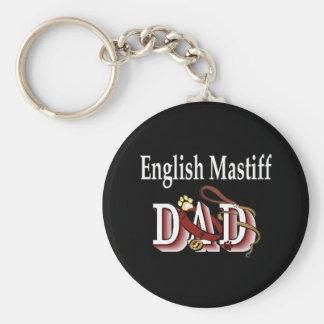 english mastiff dad Keychain
