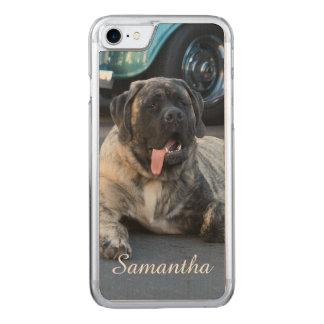 English Mastiff dog Carved iPhone 8/7 Case