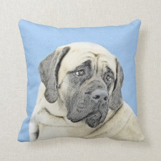 English Mastiff (Fawn) Throw Pillow