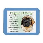 English Mastiff Heritage of Love Vinyl Magnets