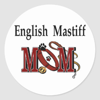English Mastiff Mom Gifts Classic Round Sticker