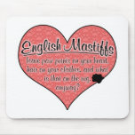 English Mastiff Paw Prints Dog Humor Mousepad