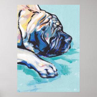 English Mastiff Pop Art TPoster Print