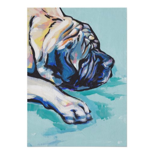 English Mastiff Pop Art TPoster Print