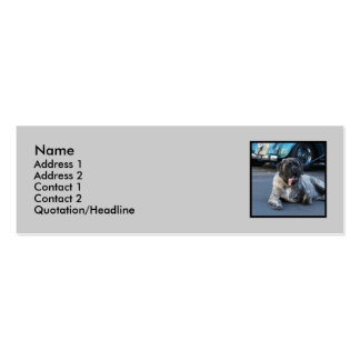 English Mastiff Skinny business cards