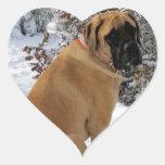 "English Mastiff ""Snow Pose"" Stickers"