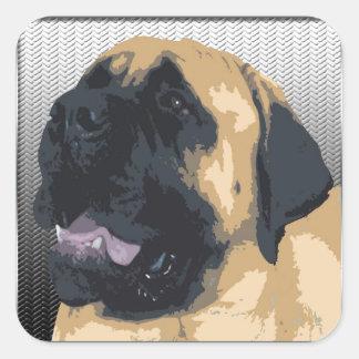 English Mastiff Square Sticker