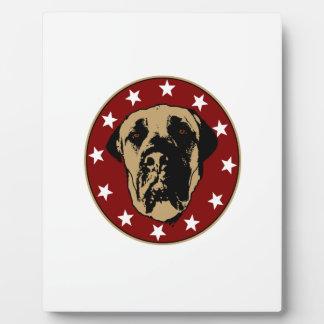English Mastiff Stencil Emblem Plaque