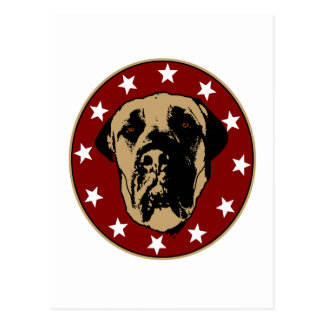 English Mastiff Stencil Emblem Postcard