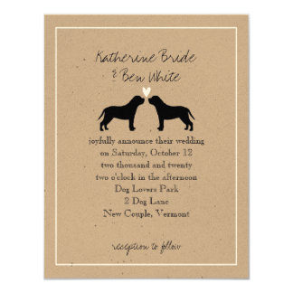 "English Mastiffs Wedding Invitation 4.25"" X 5.5"" Invitation Card"