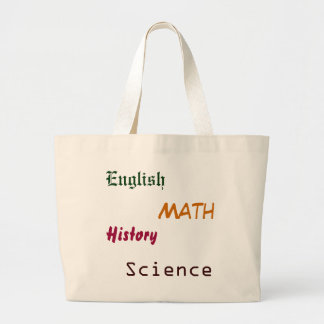 English, Math, HIstory, Science tote Canvas Bags