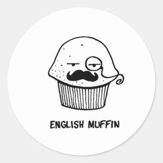 english muffin.png classic round sticker