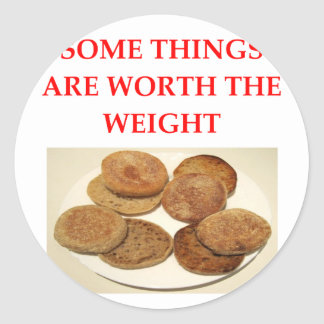 english muffins classic round sticker