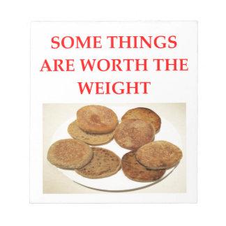 english muffins notepad