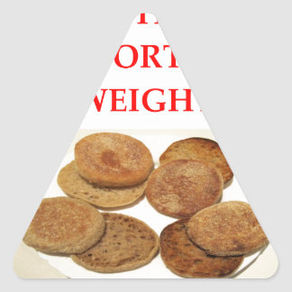 english muffins triangle sticker