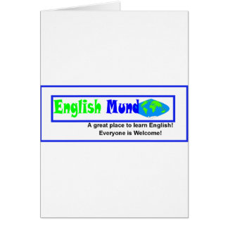 English Mundo (world) logo Card