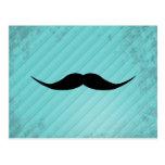 English Mustache Postcard