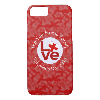 English or St George Cross LOVE White Red iPhone 8/7 Case