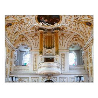 English organ postcard