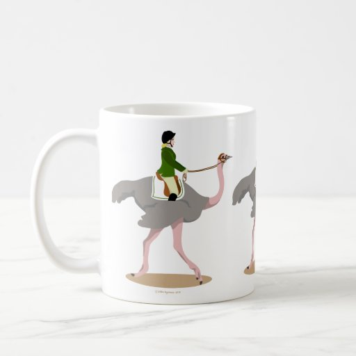 English Ostrich Classic White Coffee Mug
