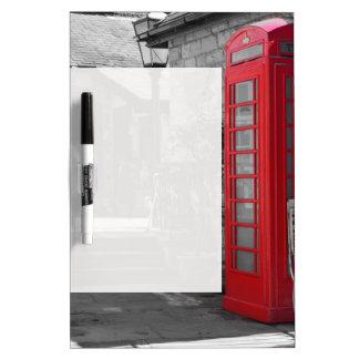 English Phone Booth Dry Erase Board