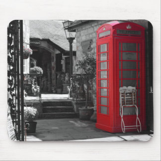 English Phone Booth Mouse Pad