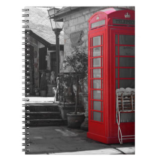 English Phone Booth Spiral Notebooks