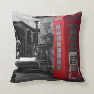 English Phone Booth Pillow