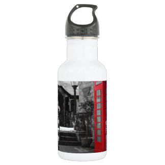 English Phone Booth Water Bottle