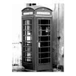 English Phone Cabin Post Card