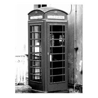 English Phone Cabin Postcard