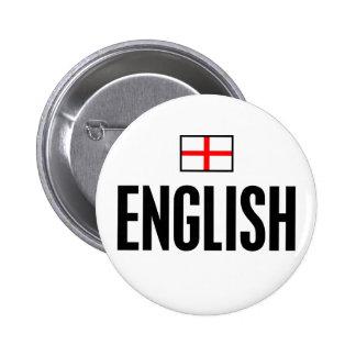 English Pinback Button