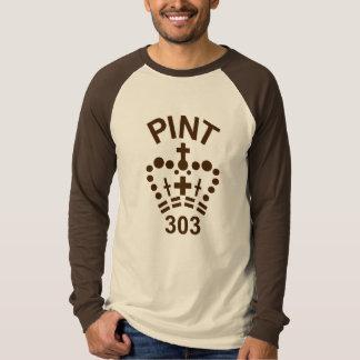 English pint Raglan long-sleeve, Brown logo T-Shirt