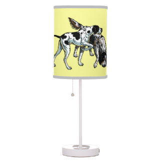 english pointer and setter desk lamp