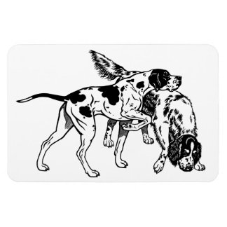 english pointer and setter rectangular photo magnet