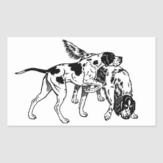 english pointer and setter rectangular sticker
