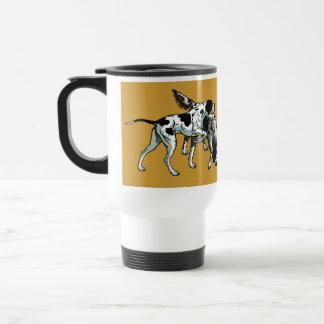 english pointer and setter travel mug