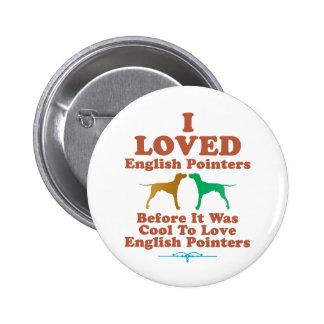English Pointer 2 Inch Round Button