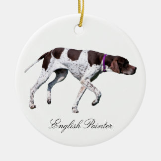 English Pointer dog beautiful photo, gift Ceramic Ornament