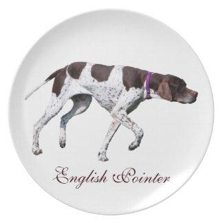 English Pointer dog beautiful photo, gift Dinner Plate