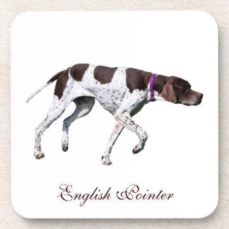 English Pointer dog beautiful photo, gift Drink Coaster