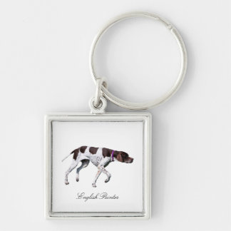 English Pointer dog beautiful photo, gift Keychain