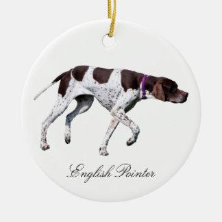 English Pointer dog beautiful photo, gift Christmas Ornaments