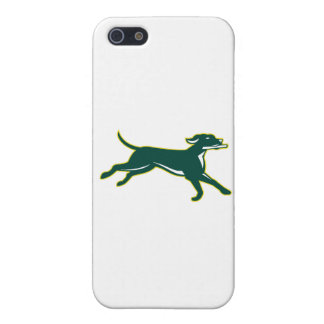 English Pointer Dog Fetching Stick Retro Case For iPhone SE/5/5s