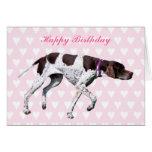 English Pointer dog happy birthday card