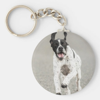 English Pointer Dog Keyring Basic Round Button Keychain