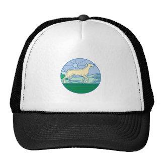 English Pointer Dog Mono Line Trucker Hat